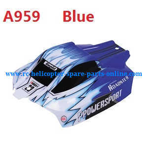 Wltoys A959 A959-A A959-B RC Car spare parts upper car shell (A959 Blue)