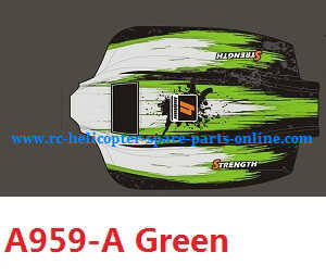 Wltoys A959 A959-A A959-B RC Car spare parts upper car shell (A959-A Green)