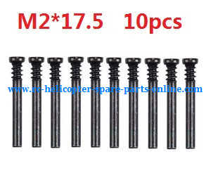 Wltoys A959 A959-A A959-B RC Car spare parts screws M2*17.5 10pcs