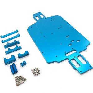 Wltoys A959 A959-A A959-B RC Car spare parts alloy aluminum bottom board with metal small fixed parts (Upgrade to metal)
