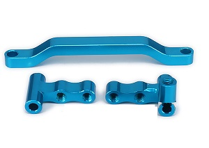 Wltoys A959 A959-A A959-B RC Car spare parts Alloy aluminum Steering connector + steering seat A + steering gear B (Blue)