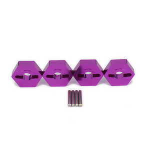 Wltoys A959 A959-A A959-B RC Car spare parts Aluminum Hex Hub Adapter (Purple)