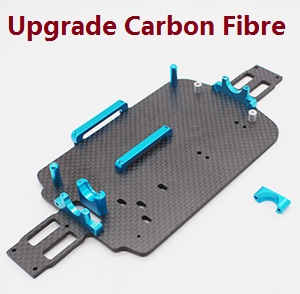 Wltoys A959 A959-A A959-B RC Car spare parts bottom board with small fixed parts set (Upgrade To Carbon Fibre)