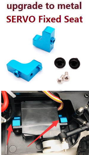 Wltoys A979 A979-A A979-B RC Car spare parts SERVO fixed seat (upgrade to metal)