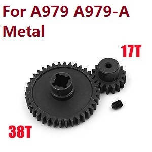 Wltoys A979 A979-A A979-B RC Car spare parts reduction gear + motor gear (Metal) for A979 A979-A