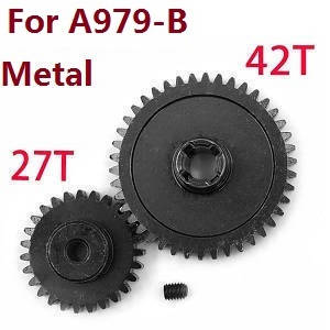 Wltoys A979 A979-A A979-B RC Car spare parts reduction gear + motor gear (Metal) for A979-B