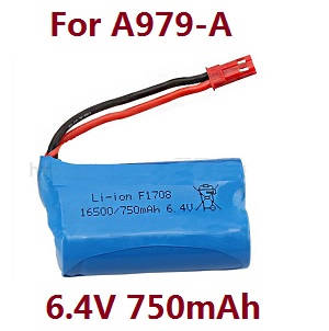 Wltoys A979 A979-A A979-B RC Car spare parts 6.4V 750mAh battery (For A979-A)