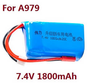 Wltoys A979 A979-A A979-B RC Car spare parts 7.4V 1800mAh battery (For A979)