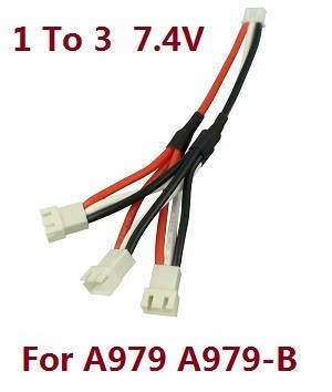 Wltoys A979 A979-A A979-B RC Car spare parts 1 to 3 charger wire 7.4V