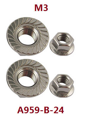 Wltoys A979 A979-A A979-B RC Car spare parts M3 flange nuts for fixed the wheels A959-B-24