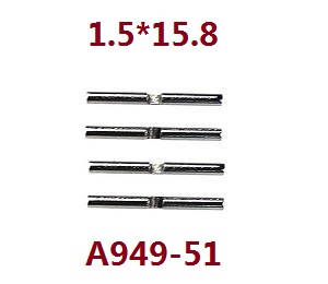 Wltoys A979 A979-A A979-B RC Car spare parts differential small metal bar shaft 1.5*15.8 A949-51