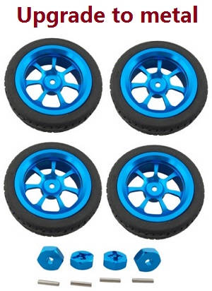 Wltoys A979 A979-A A979-B RC Car spare parts tires and whell seat (Metal hubs)