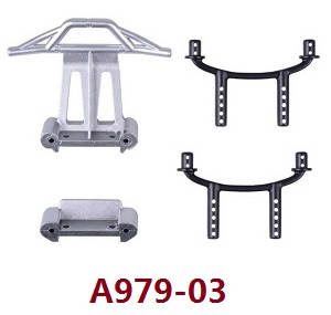 Wltoys A979 A979-A A979-B RC Car spare parts front and rear crashproof + shell column A979-03