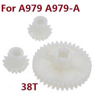 Wltoys A979 A979-A A979-B RC Car spare parts reduction gear + driving gear (Plastic) for A979 A979-A
