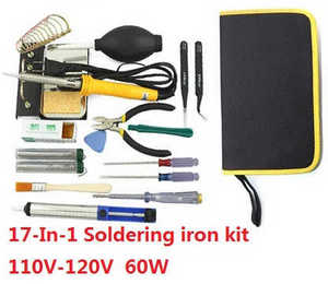 Wltoys A999 RC Car spare parts 17-In-1 Voltage 110-120V 60W soldering iron set