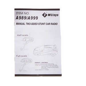 Wltoys A999 RC Car spare parts English manual book
