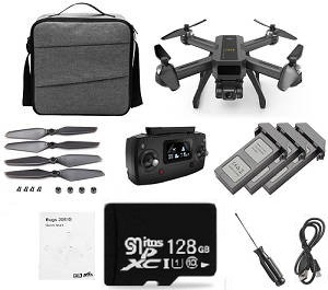 MJX B20 Bugs 20 EIS RC drone with 3 battery and 128G SG card and portable shoulder bag