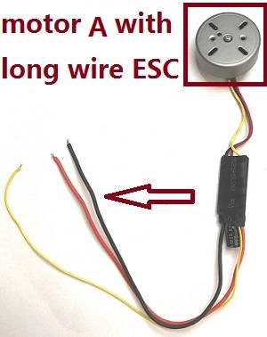 MJX B20 Bugs 20 EIS RC drone quadcopter spare parts motor A with long wire ESC
