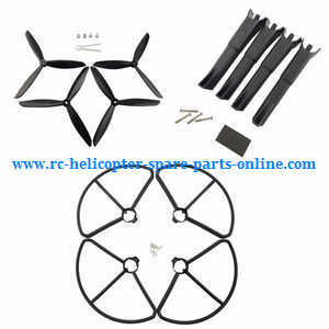 MJX Bugs 2 B2C B2W RC quadcopter spare parts 3-leaf main blades + protection frame set + undercarriage set