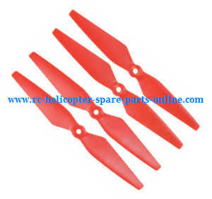 MJX Bugs 2 B2C B2W RC quadcopter spare parts main blades propellers (Red)
