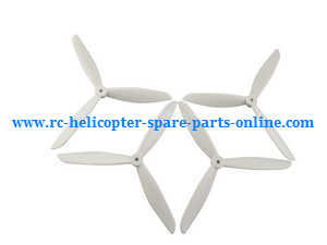 MJX Bugs 2 B2C B2W RC quadcopter spare parts upgraded three leaf blades (White)