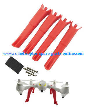 MJX Bugs 2 B2C B2W RC quadcopter spare parts upgraded landing skids (Red)