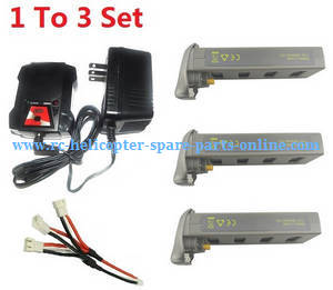 MJX Bugs 2SE B2SE RC Quadcopter spare parts 1 To 3 charger set + 3*7.4V 1800mAh battery set
