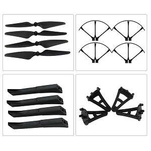 MJX B3 Bugs 3 RC quadcopter spare parts main blades + protection frame set + landing skids set