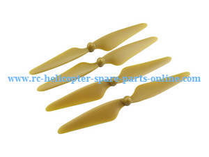 MJX Bugs 3H B3H RC Quadcopter spare parts main blades (Gold)