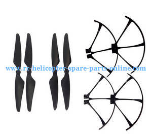 MJX Bugs 3H B3H RC Quadcopter spare parts main blades + protection frame