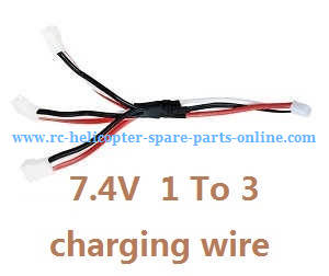 MJX Bugs 3H B3H RC Quadcopter spare parts 1 to 3 charger wire 7.4V