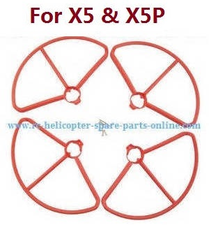 JJRC JJPRO X5 X5P RC Drone Quadcopter spare parts protection frame set (Red)