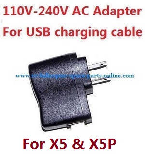 JJRC JJPRO X5 X5P RC Drone Quadcopter spare parts 110V-240V AC Adapter for USB charging cable