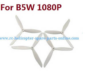 MJX Bugs 5W B5W RC Quadcopter spare parts upgrade 3-leaf main blades (White)