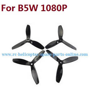 MJX Bugs 5W B5W RC Quadcopter spare parts upgrade 3-leaf main blades (Black)