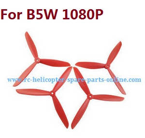 MJX Bugs 5W B5W RC Quadcopter spare parts upgrade 3-leaf main blades (Red)