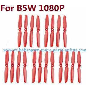 MJX Bugs 5W B5W RC Quadcopter spare parts main blades (Red 5sets)