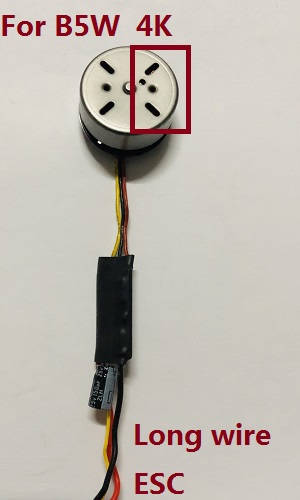 MJX Bugs 5W B5W RC Quadcopter spare parts brushless motor with long wire ESC board [There are 4 holes on the right] (For B5W 4K version)