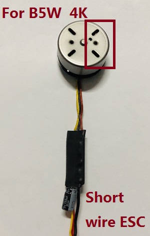 MJX Bugs 5W B5W RC Quadcopter spare parts brushless motor with short wire ESC board [There are 4 holes on the right] (For B5W 4K version)