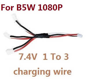 MJX Bugs 5W B5W RC Quadcopter spare parts 1 to 3 charger wire 7.4V