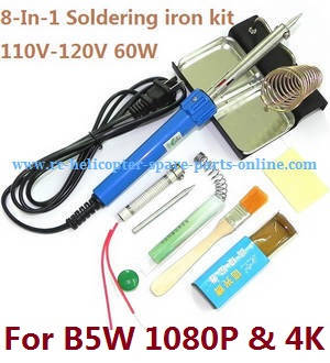 MJX Bugs 5W B5W RC Quadcopter spare parts 8-In-1 Voltage 110-120V 60W soldering iron set