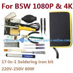 MJX Bugs 5W B5W RC Quadcopter spare parts 17-In-1 Voltage 220-250V 60W soldering iron set