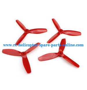 MJX Bugs 8 Pro, B8 Pro RC Quadcopter spare parts 3-leaf main blades (Red)