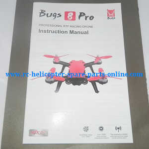 MJX Bugs 8 Pro, B8 Pro RC Quadcopter spare parts English manual book