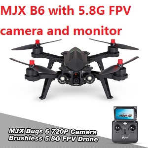 MJX Bugs 6 RC Quadcopter with 5.8G FPV camera and monitor.