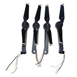 Aosenma CG033 CG033-S RC quadcopter spare parts side bar and motor sets 4pcs
