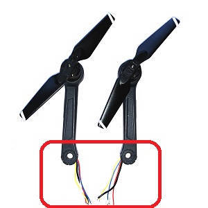Aosenma CG033 CG033-S RC quadcopter spare parts side bar and motor sets 2pcs short wire