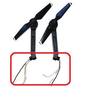 Aosenma CG033 CG033-S RC quadcopter spare parts side bar and motor sets 2pcs long wire