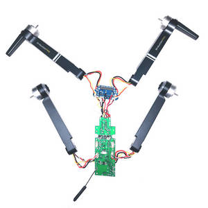 Aosenma CG036 RC Drone spare parts side motor bar set with PCB board set