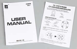 Cheerson CX-10SE RC quadcopter spare parts English manual instruction book
